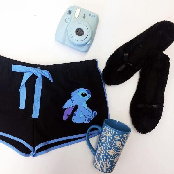 Loungin' around with Stitch // Disney Lilo Stitch Ohana Lounge Shorts