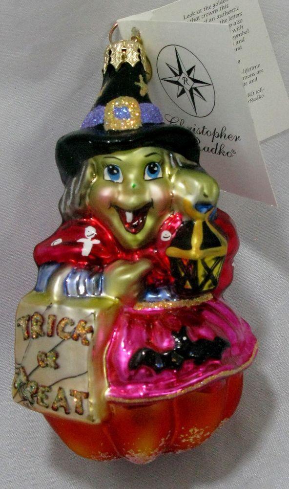 Radko Halloween SNAGGLE HAGGLE Witch Ornament 01-0544-0 Retired 2001 NWT