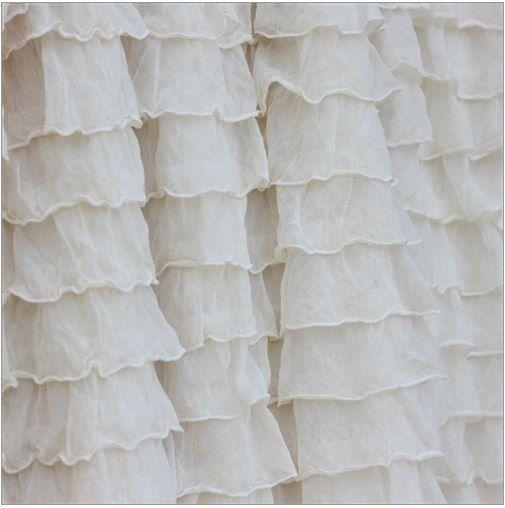 Custom Ruffled Curtain Valance Cream Shabby by avisiontoremember