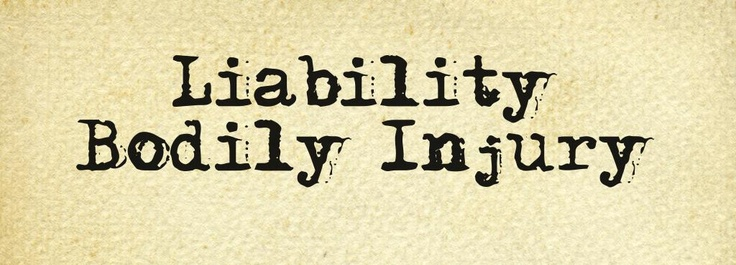 """Insurance coverage that applies when you are legally liable for injuring other people in an auto accident. Bodily injury liability provides payments to those injured individuals and pays your legal defense costs as well. Such coverage can be combined with property damage liability, as it often is, and be called """"liability insurance."""""""
