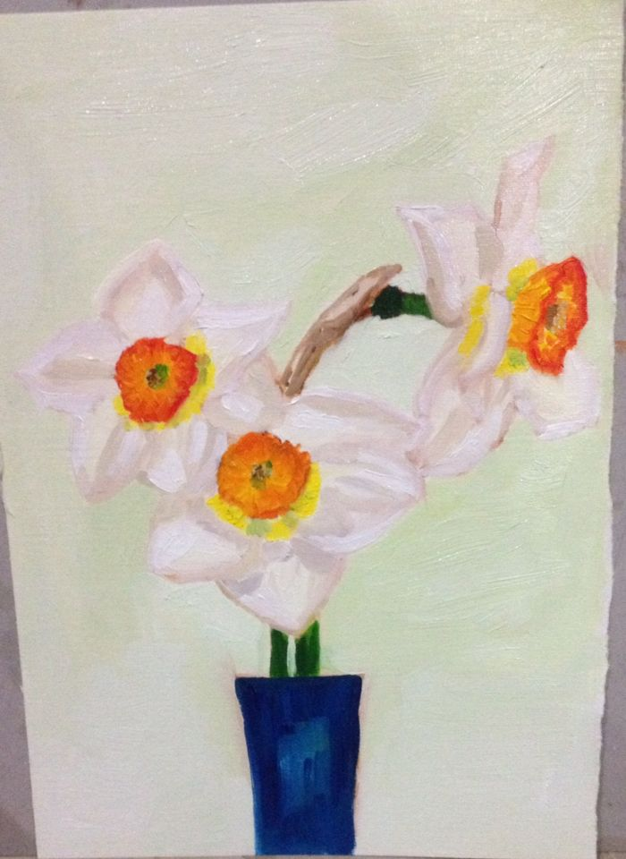 Practicing daffodils 15