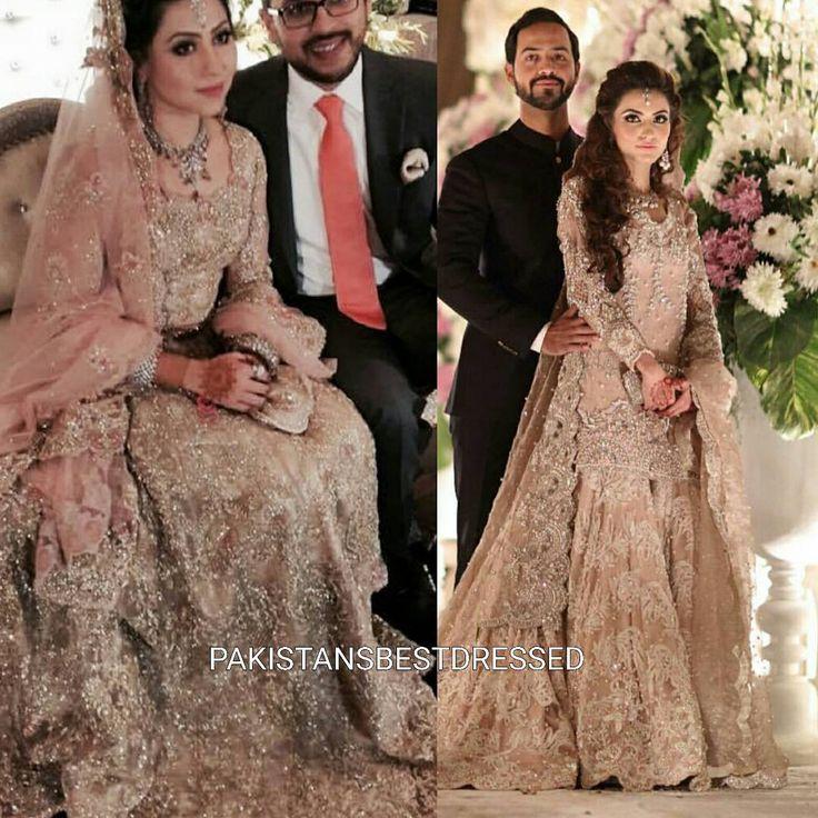 """Brides this season - Mishaal Shirazi in Zara Shahjahan and Numra Waqas in Ammara Khan #bestdressed #numrawaqas #ammarakhanatelier #mishaalshirazi…"""