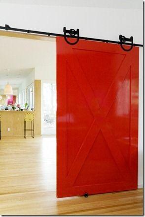 Add a sliding BARN DOOR...love the high gloss!