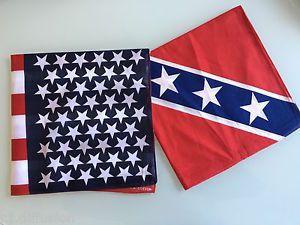 Pack LOT DE 2 Bandanas Foulard Drapeau USA Etats Unis ET Sudiste 100 Coton | eBay