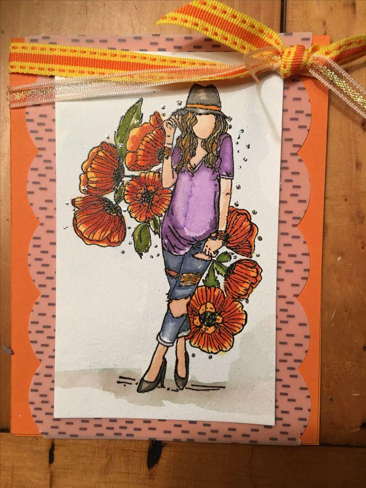 Unity Stamp Poppy Girl