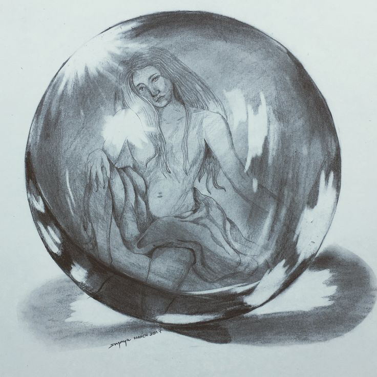Work on perfecting glass with pencil shading