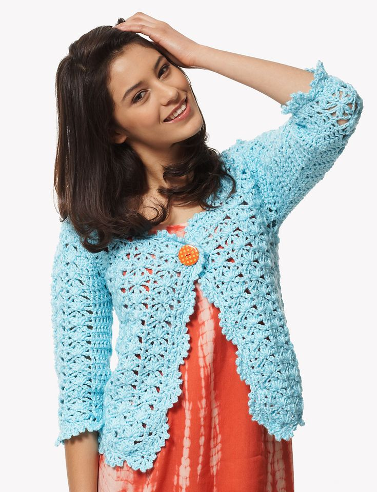 Ravelry: On the Lace Cardigan by Bernat Design Studio...really pretty and lacy sweater... Free pattern!