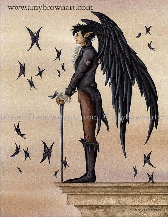 LAST ONES Rook male fairy PRINT 8.5x11 by Amy Brown by AmyBrownArt