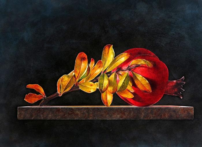 Ottorino De Lucchi, Dopo le Ferie, 2012 - drybrush watercolour on schoeller board