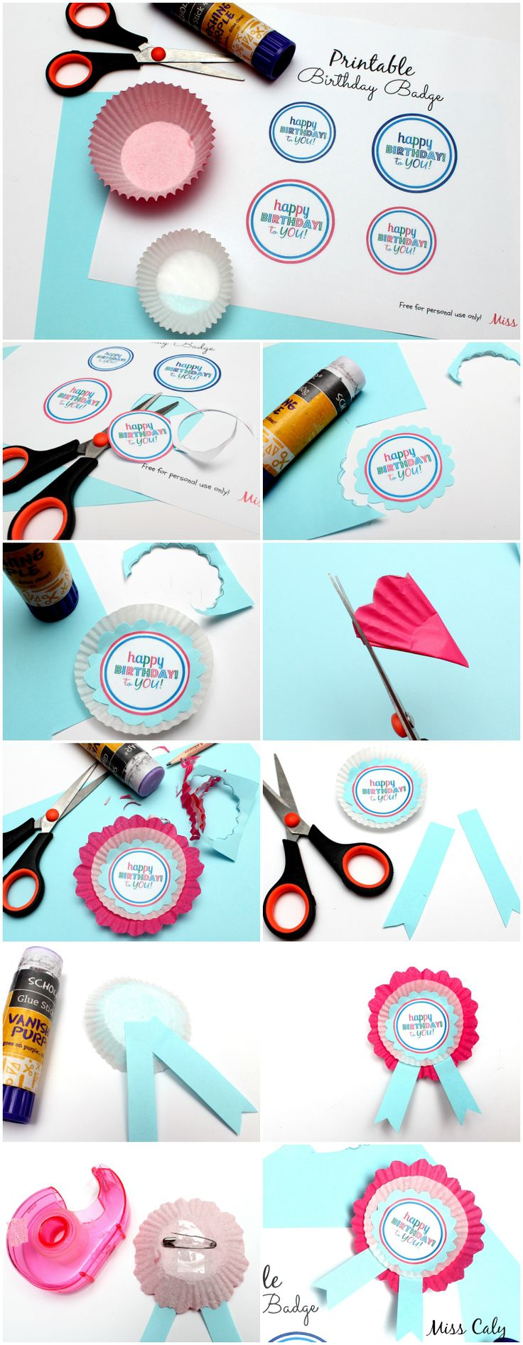 - treat that special someone on the birthday with these printable DIY birthday badges! -