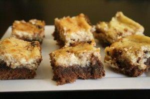 Passover-friendly cheesecake brownies :-) Also gluten free :-)