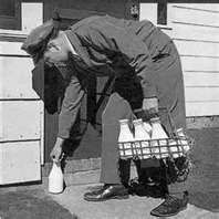 Yes, people actually used to have milk delivered to their homes