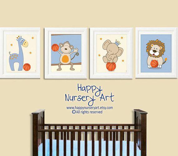 Boy Sports Nursery Art Basketball Nursery Art by HappyNurseryArt