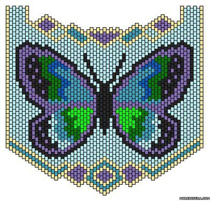 Схемы бабочек 2 - Животные - Схемы плетения бисером - Сокровищница статей - Плетение бисером украшений, деревьев и цветов, схемы мк
