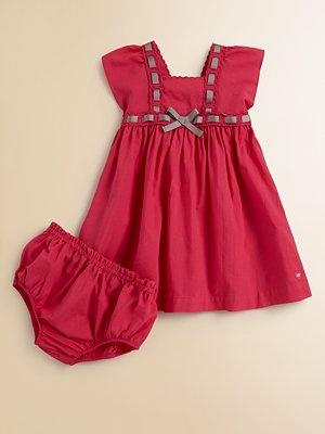 Lili Gaufrette Infant's Ribbon Dress & Bloomers Set $109