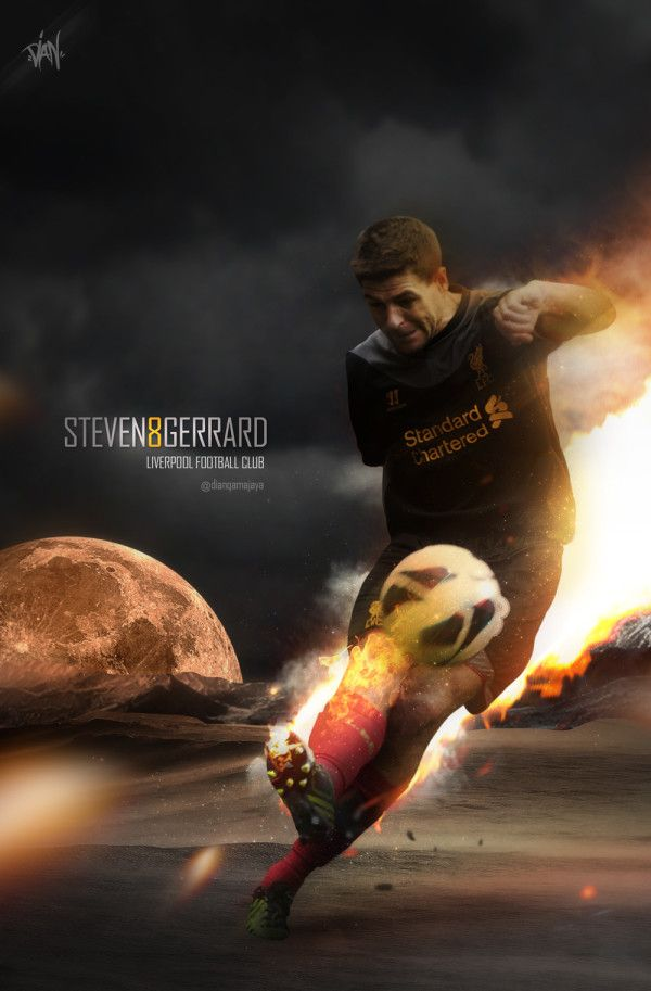 Steven Gerrard #LFC #artwork - #Liverpool FC #Quiz  - #The Reds