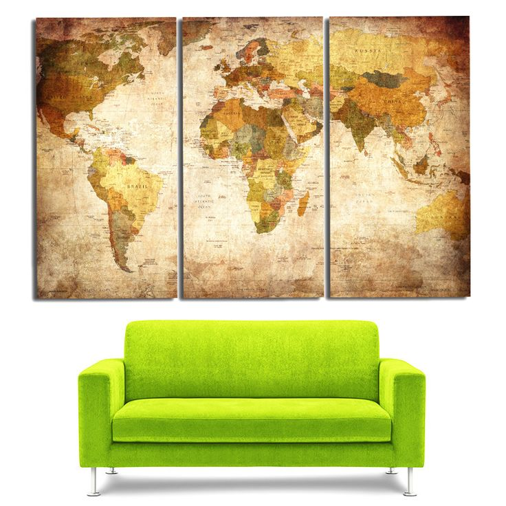 Aliexpress Com Buy Unframed 3 Panel Vintage World Map: Best 10+ World Map Picture Ideas On Pinterest