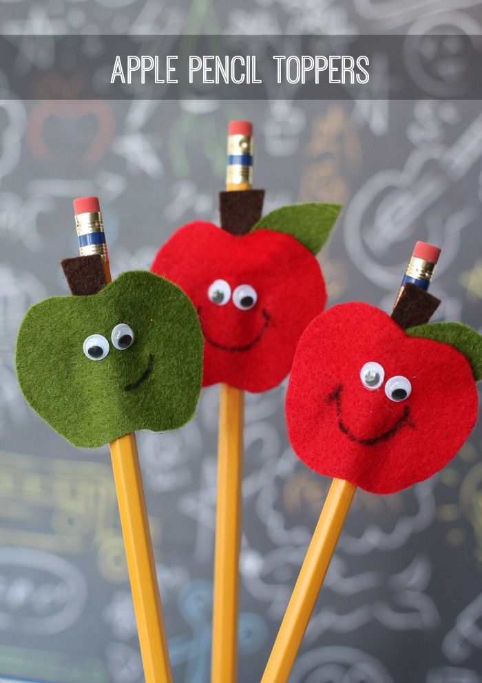 Apple Pencil Toppers-perfect for the kids going back to school!