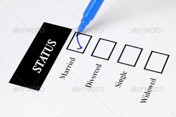 Marital Status Checklist - Married ...  Fill Out, advice, advise, agreement, application, application form, blue, breakup, check-box, check-list, choice, couple, declaration, declare, decree, divorce, document, fill, form, legal, list, man, marital, marital-status, marriage, matrimony, paper, partners, pen, position, relationship, report, research, separation, settlement, sign, single, split, spouse, status, stylus, tick-box, widowed, woman