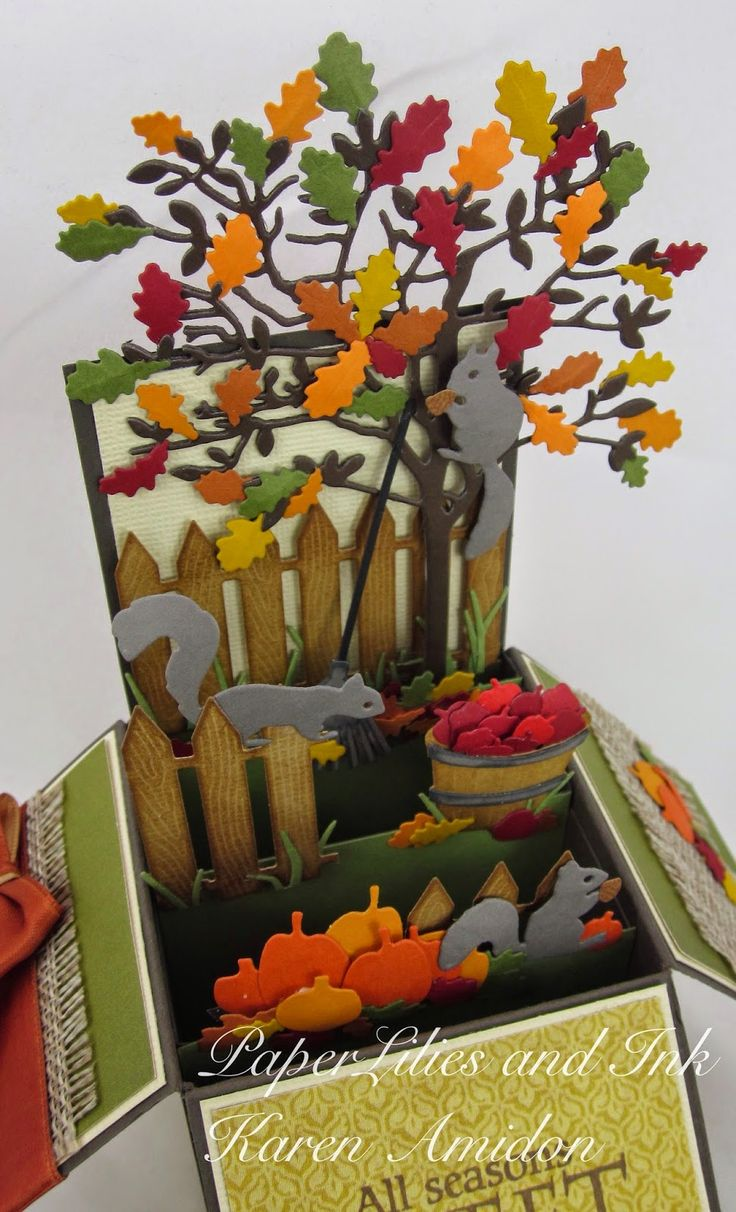 Scrapbook ideas pop up - Autumn Card Ideas Essential Products For This Project Can Be Found On