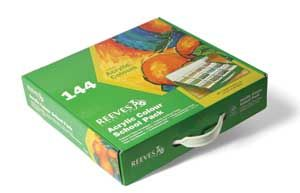 Reeves Acrylic Colour 144 Tube Set Class Pack
