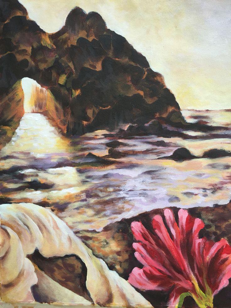My new finished Oregon inspired seascape.