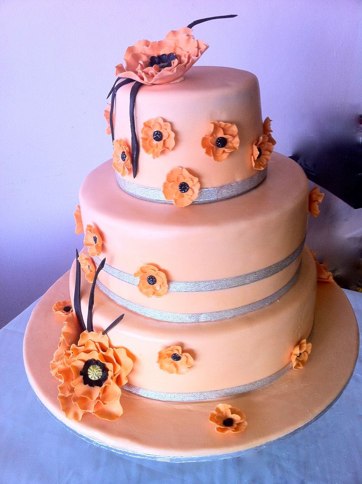 Peach and silver cake.