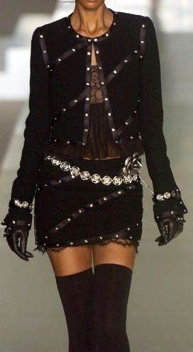 Chanel GORGEOUS! – LOVE THE STUNNING FABRIC, THE STYLE, THE BLING, THE BELT & AM… – KaBo