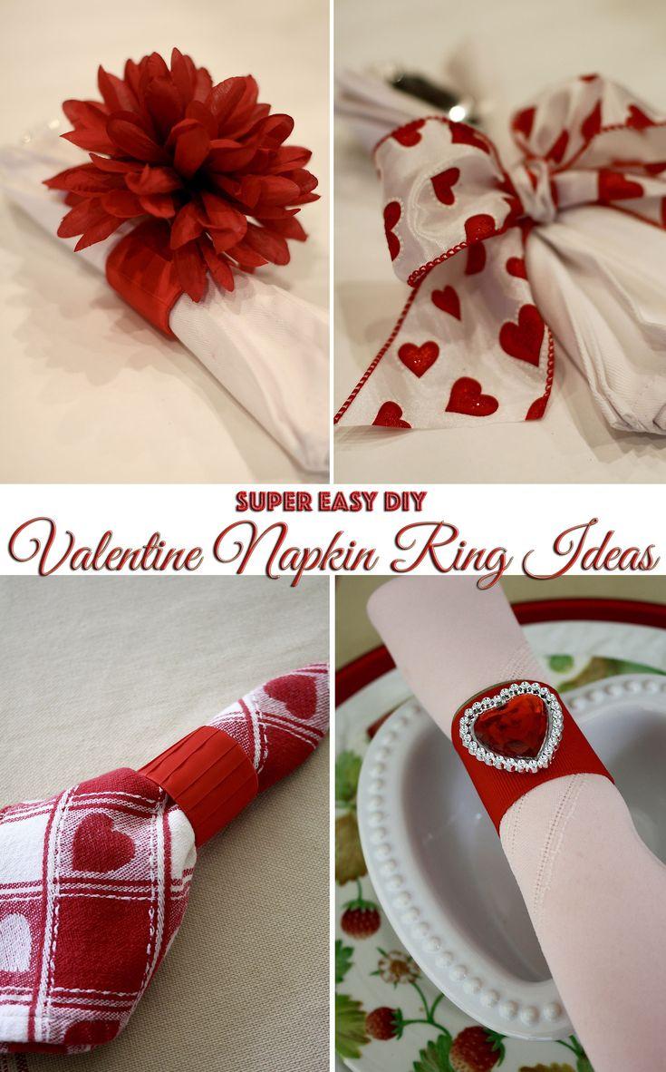 Super Easy Valentine Napkin Ring Ideas