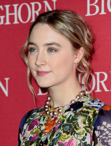 Saoirse Ronan Lavender Keshi Baroque Pearl Necklace