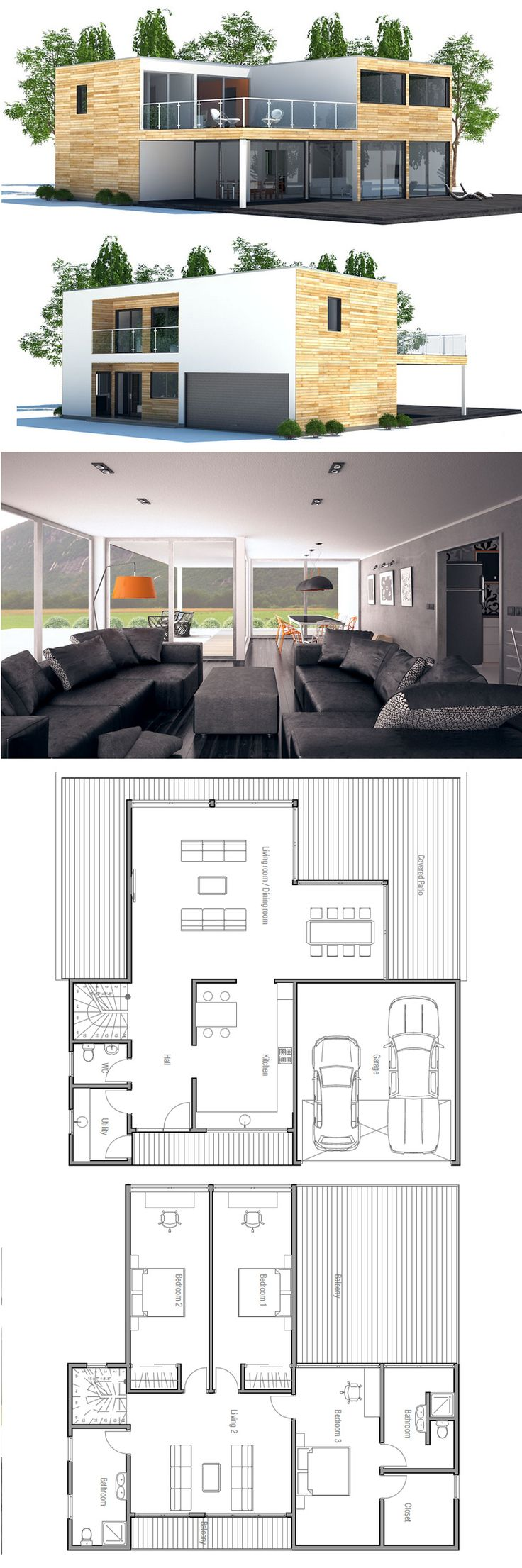 200 best House Plans, Contemporary Modern Houses images on Pinterest ...