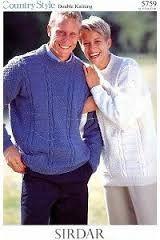Sirdar 5759 Men's & Women's Sweaters in Sirdar Country Style DK (#3 Weight Yarn)