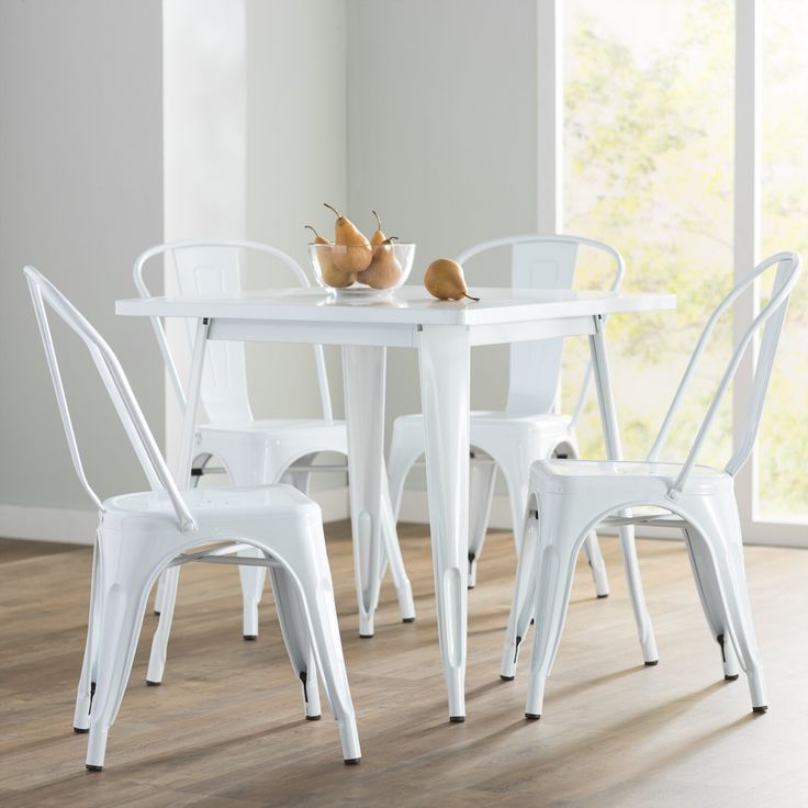 Betsey 5 Piece Dining Set 5 Piece Dining Set Metal Dining Table Dining Room Sets