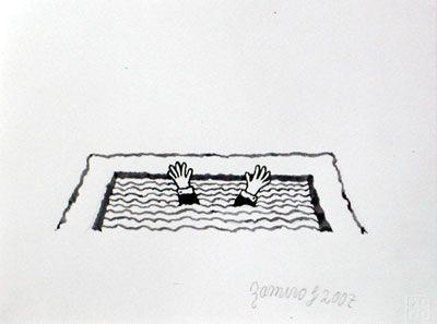 Insomnio V, 2007, gouache/papel, 21x28 cm.