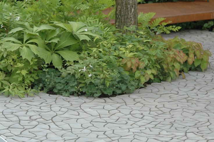 Cracked Earth concrete tile at RHS Chelsea Flower Show
