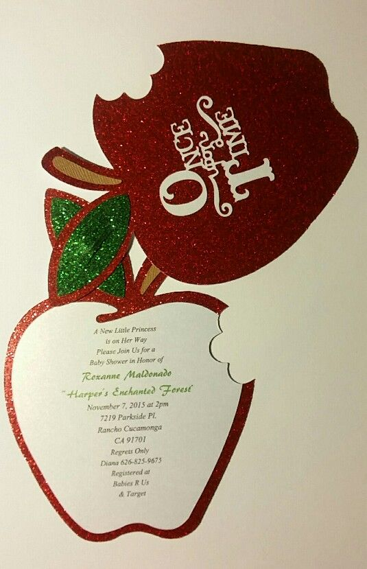 Inside Once Upon A Time Baby shower invite