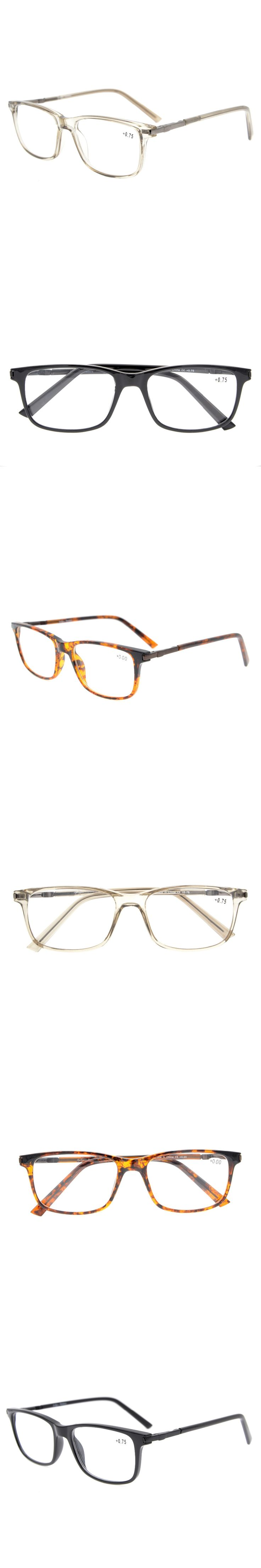 TR010 Eyekepper TR90 Frame Classic Spring Hinges Reading Glasses Stylish Crystal Clear Vision +0.50---+3.00