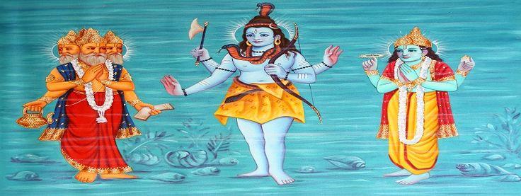 The trinity consists of the three most powerful gods of Brahma, Vishnu and Shiva. The lord brahma not ritualistically worshiped like lord Vishnu and lord shiva.