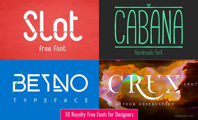50 Royalty Free Fonts for Designers - Download Professional Fonts. Read full article: http://webneel.com/webneel/blog/30-royalty-free-professional-fonts-designers-download-now | more http://webneel.com/free-fonts-download | Follow us www.pinterest.com/webneel