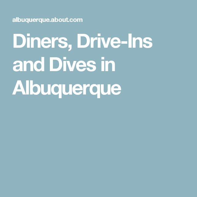 Diners, Drive-Ins and Dives in Albuquerque