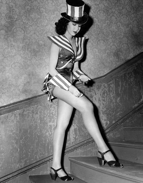 """Ann Miller...to honor Miller's contribution to dance, the Smithsonian Institution displays her favorite pair of tap shoes, which she playfully nicknamed """"Moe and Joe""""."""