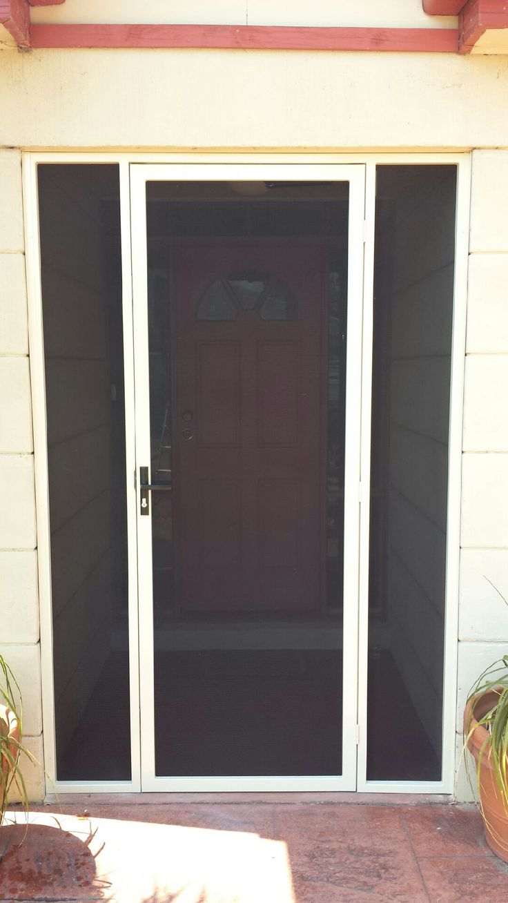 steel security door porch enclosure with stainless steel mesh installed in aspendale gardens