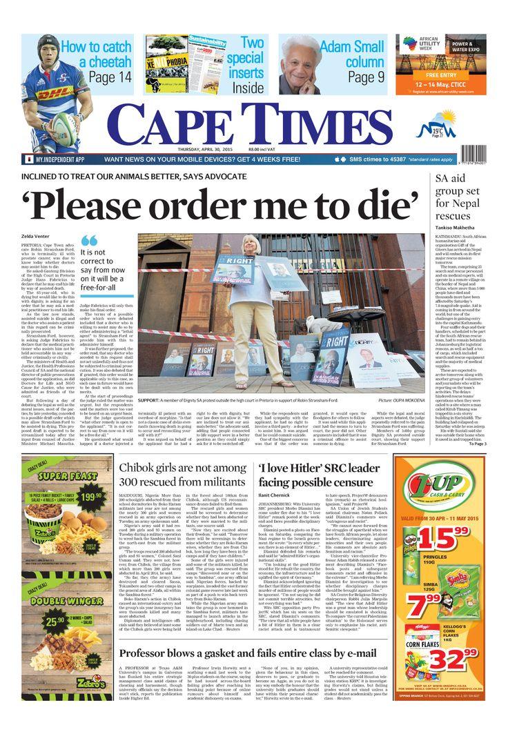 News making headlines: 'Please order me to die'