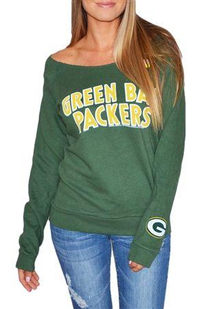 Green Bay Packers off the shoulder sweatshirt