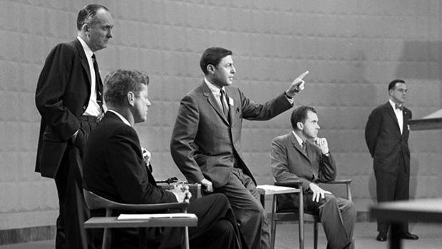 1960 - The 1st televised Presidential Debate - President JFK and Vice President Richard Nixon
