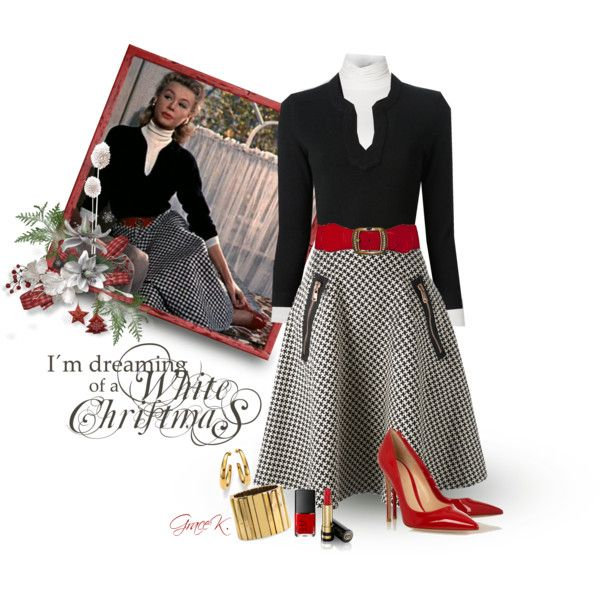 """Vera Ellen in ""White Christmas"""" by gracekathryn on Polyvore:"