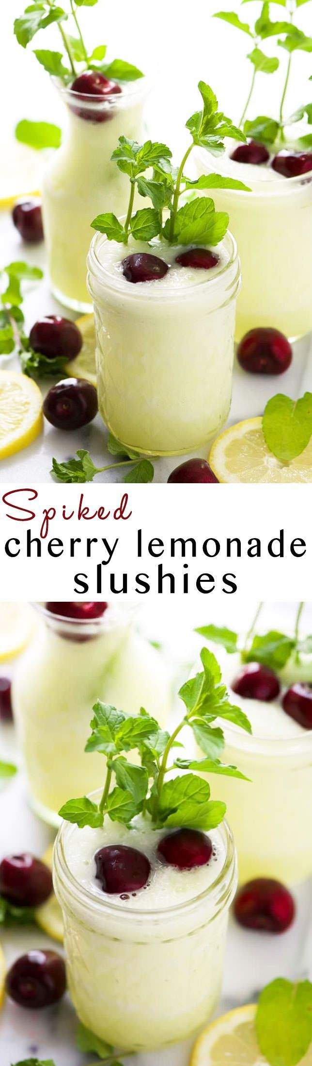 A skinny and refreshing summer treat made with lemonade and cherry vodka. A grown up slushie that will be perfect for hot summer days!