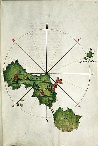 Bartolommeo dalli Sonetti, Island of Andros, 1485Bartolommeo Dally, Islands Cyclades, Andro 1485, Cartography, Andro Islands, Historical Maps, Dally Sonetti