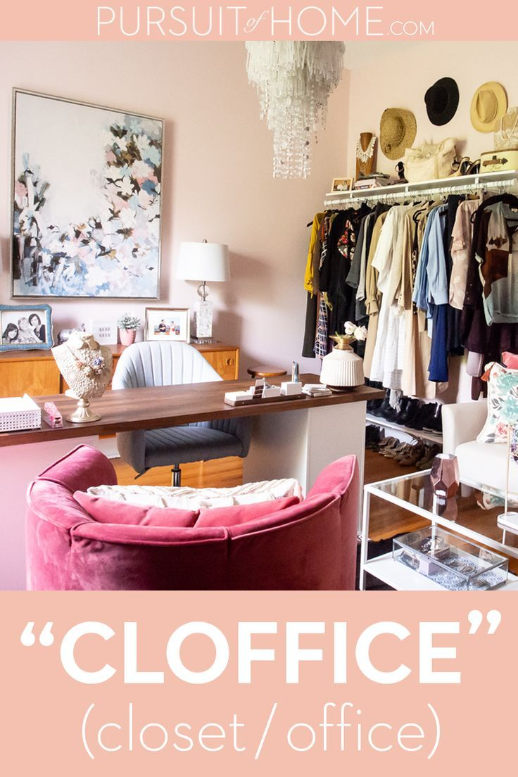 Design A Cloffice Of Your Own Cloffice Is An Office And Closet In One Room Home Office Closet Spare Bedroom Closets Closet Office