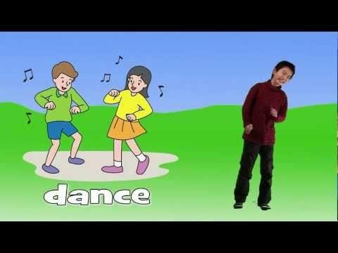 Leer Engels aan kleuters / action words